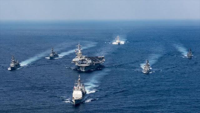 Rusia y China envían sus buques a la caza del USS Carl Vinson