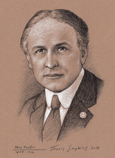 Harry Houdini. Magician, Illusionist, Escape Artist and Freemason. by Travis Simpkins