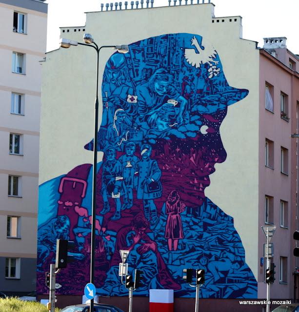 Warszawa Warsaw Wola  mural Płocka graffiti