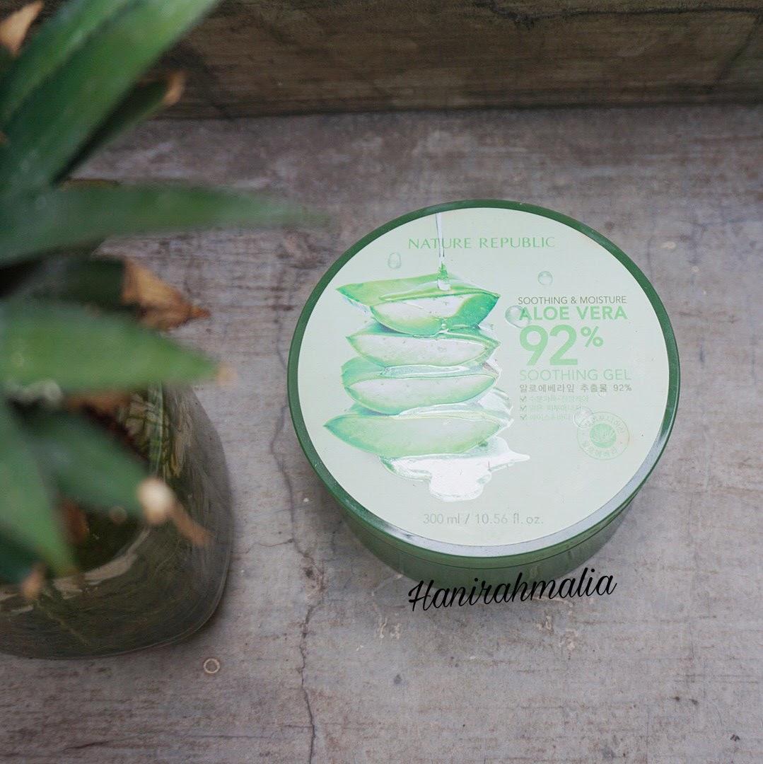 Nature Republic 92 Aloe Vera Soothing Gel Pelembab Korea Terlaris Republik Cream Ajaib Serbaguna
