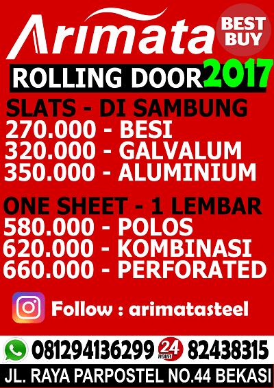 gambar daftar harga rolling door tambun