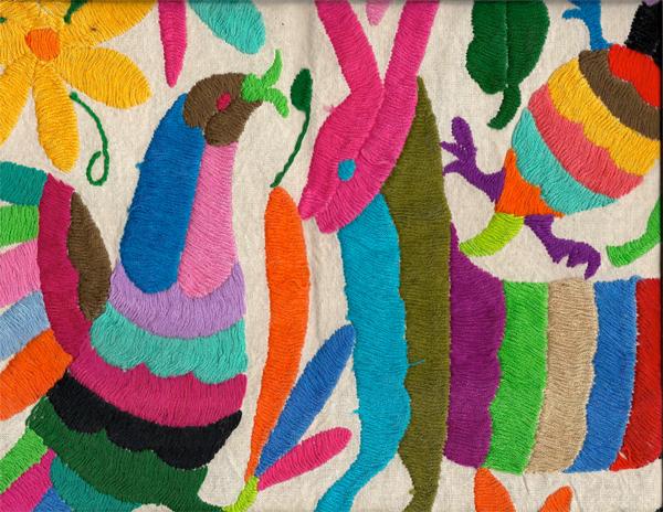 Otomi Embroidery Mimosa Lane