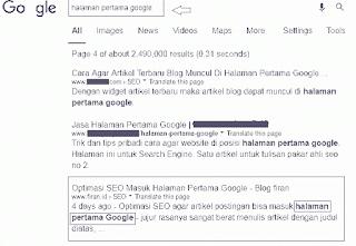 Halaman Pertama Google 2