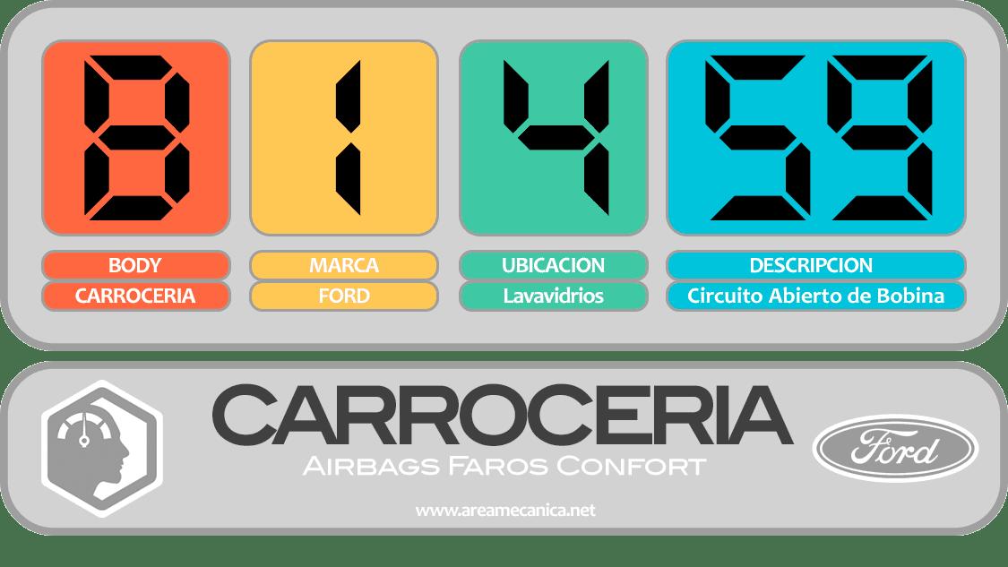 CODIGOS DE FALLA: Ford (B1400-B14FF) Carrocería | OBD2 | DTC