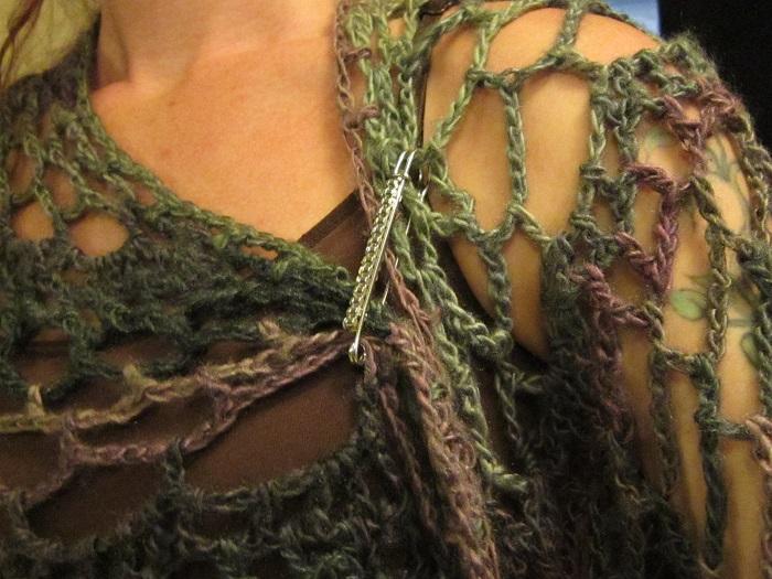 crochet, shawl, shawl pin, kilt pin
