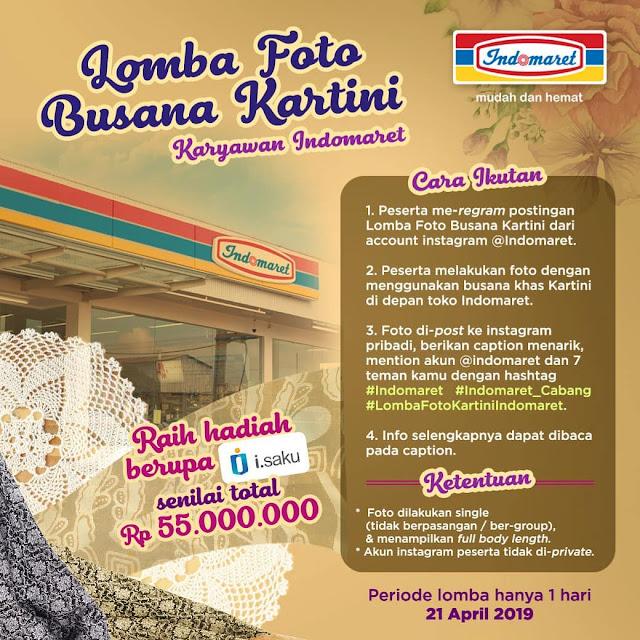 #Indomaret - #Promo Lomba Foto Busana Kartini Karyawan (21 April 2019)