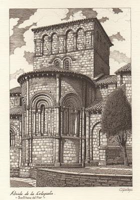 Colegiata, Santillana del Mar, postal