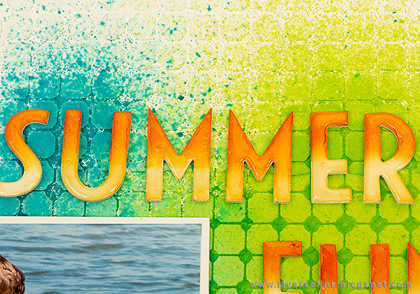 Layers of ink - Summer Fun Layout Tutorial by Anna-Karin Evaldsson