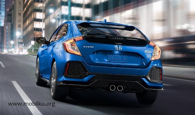 Honda, knalpot, belakang, Civic, Hatchback, turbo, mesin, bahan bakar, bbm, kapasitas, teknologi, knalpot