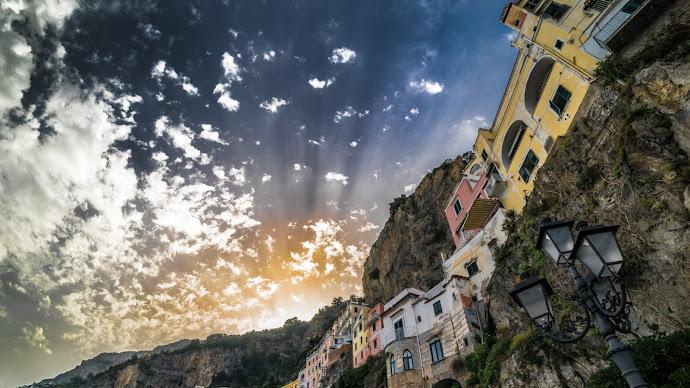 Wallpaper: Sunset in Amalfi