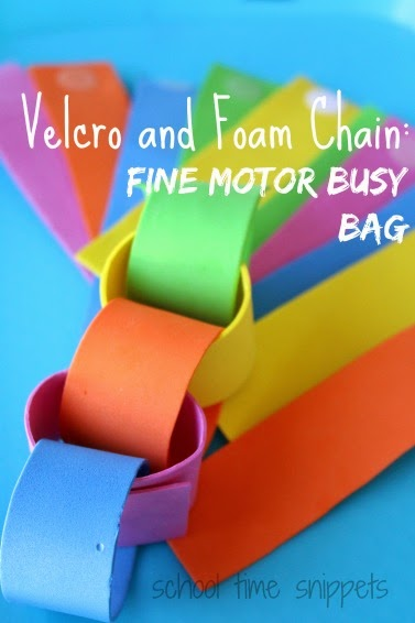 Fine Motor Idea using velcro