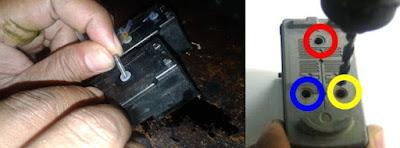 memasang infus canon ip2770