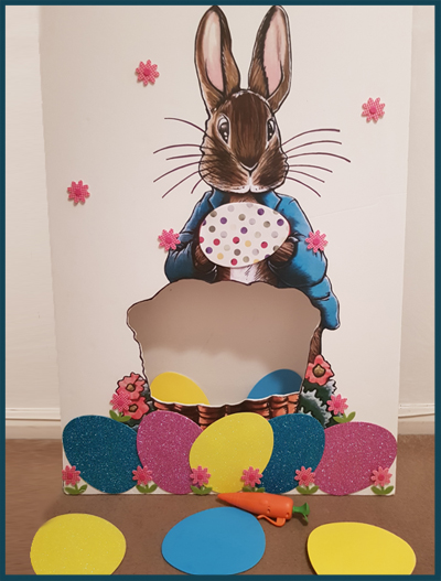 Creating a Peter Rabbit throw game to raise funds for a school