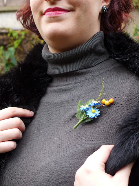 broche bouquet de fleurs, années 40