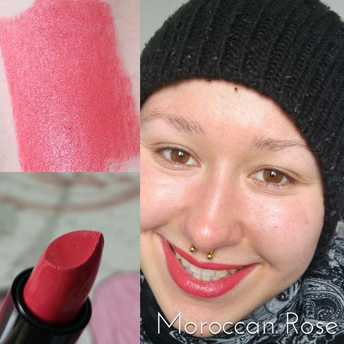 Les rouges à lèvres Max & More Lipstick Swatch Moroccan Rose