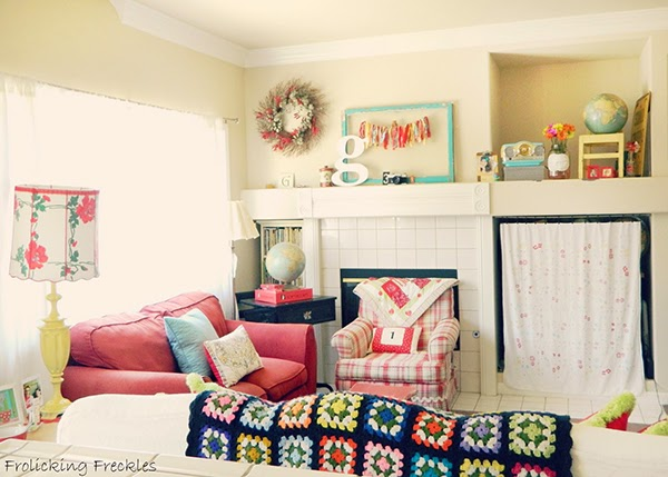 blanket in the living room