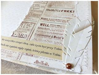 papierowe pióra z papieru brązowe półperełki miedziane wykrojniki