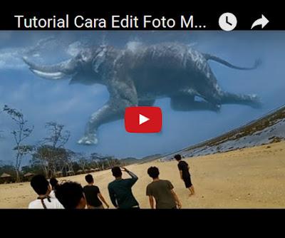 Edit Foto Membuat Efek Ikan Paus dan Gajah di Langit Video Tutorial