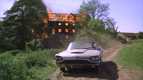 the final conflagration from The Shuttered Room (1966)