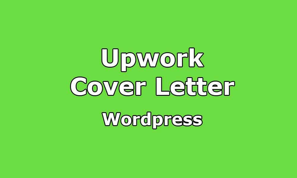 Cover Letter Sample For WordPress Developer