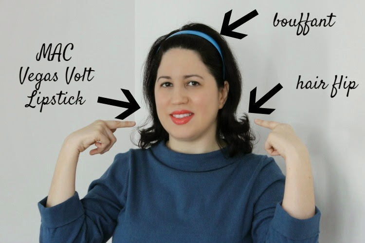 A Vintage Nerd Vintage Blog 1960s Fashion Hair Flip 1960s Inspired Fashion 1960s Tutorial Vintage Hair Inspiration