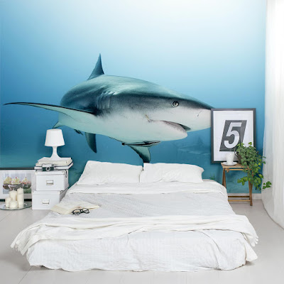 djur tapet haj fototapet shark cool tapet sovrum