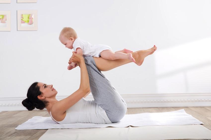 Esercizi fisici mamma e neonato