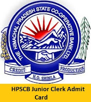 HPSCB Junior Clerk Admit Card