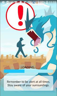 hati-hati bermain pokemon Go