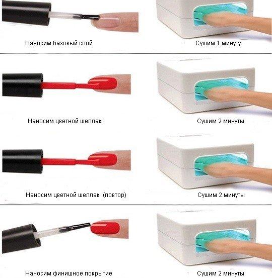Как наносить гель лак на ногти