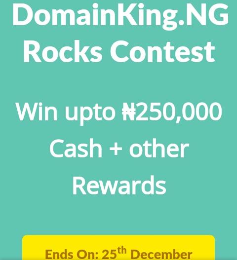 DomainKing.NG Rocks contest #DomainKingNGRocks