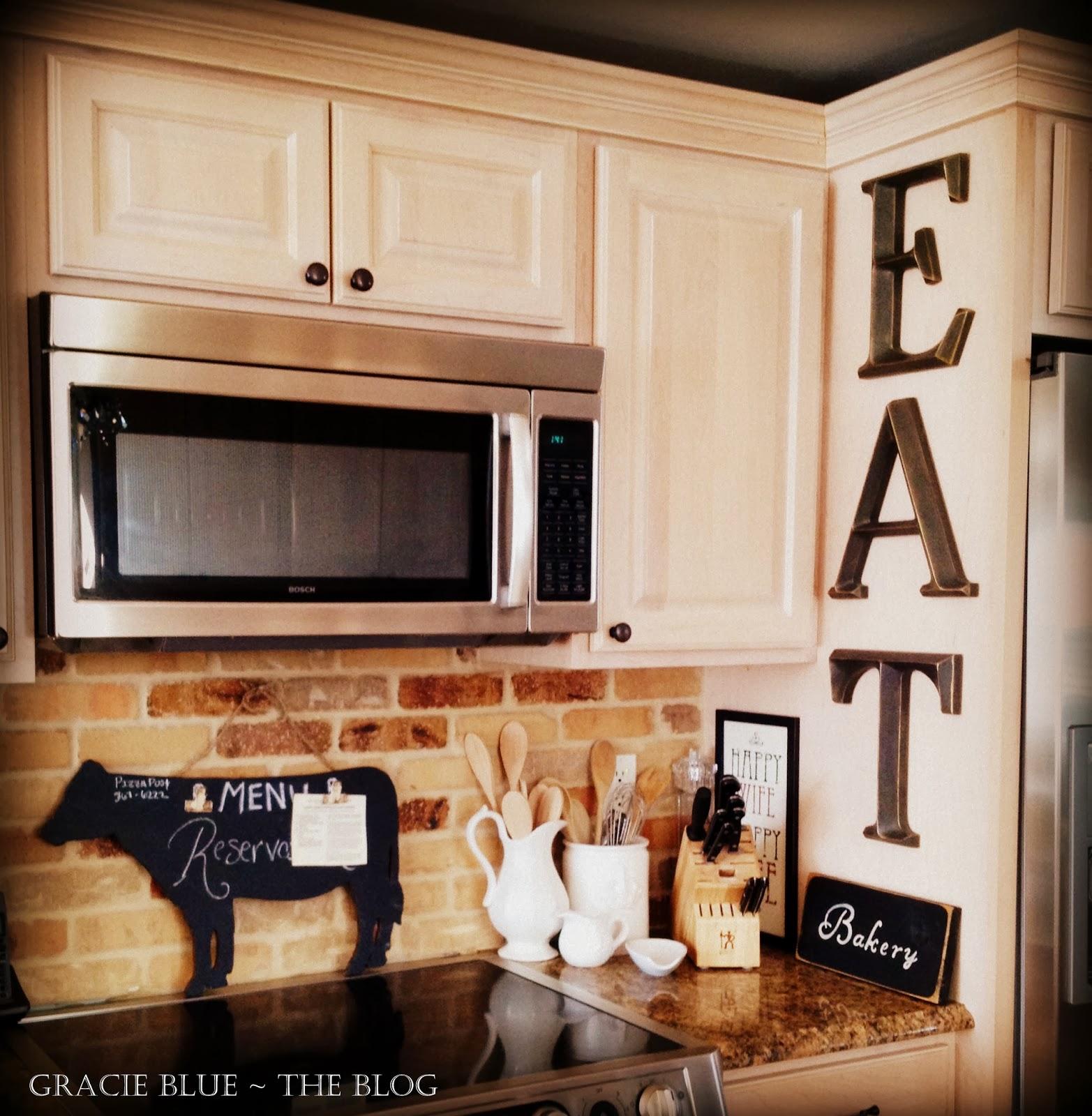 Latest Kitchen Accessories: Gracie Blue : Holy Cow!! {new Kitchen Decor}
