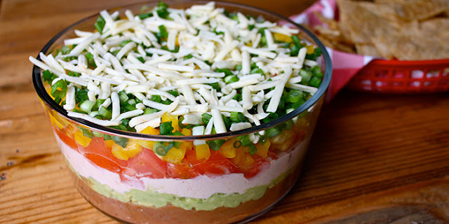 7 layer dip, mexican food, healthy recipes , clean eating