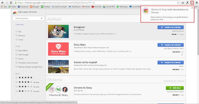 Tutorial Chrome IG Story, Ekstensi Untuk Menikmati Fitur Instagram Stories di Web
