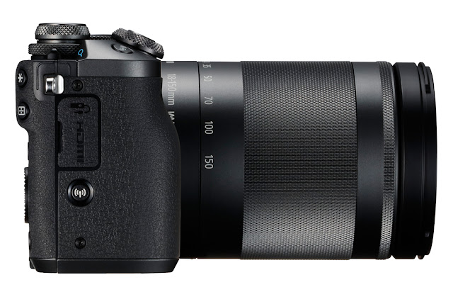 Canon EOS M6 Mirrorless Camera Side View
