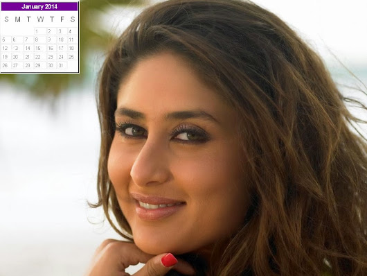 Kareena Kapoor Calendar 2014: Kareena Kapoor New Year 2014 Calendar - 2014 New Year Desk Helper
