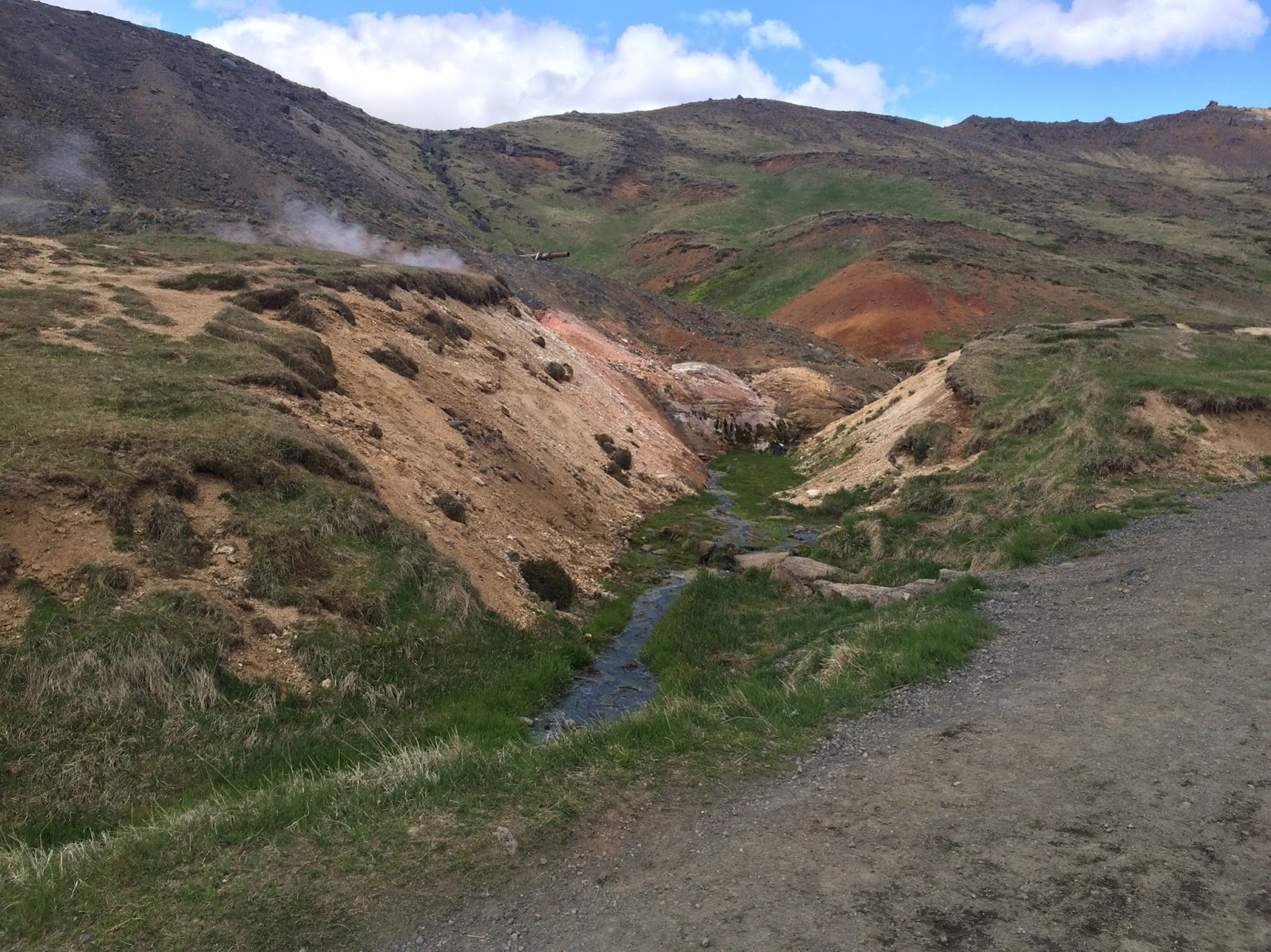 Hot springs and colourful landscapes in Iceland