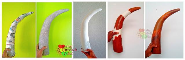 Cuerno-decorativo-papel-mache