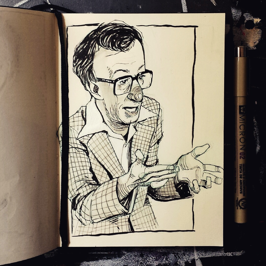 Woody Allen sketchbook drawing