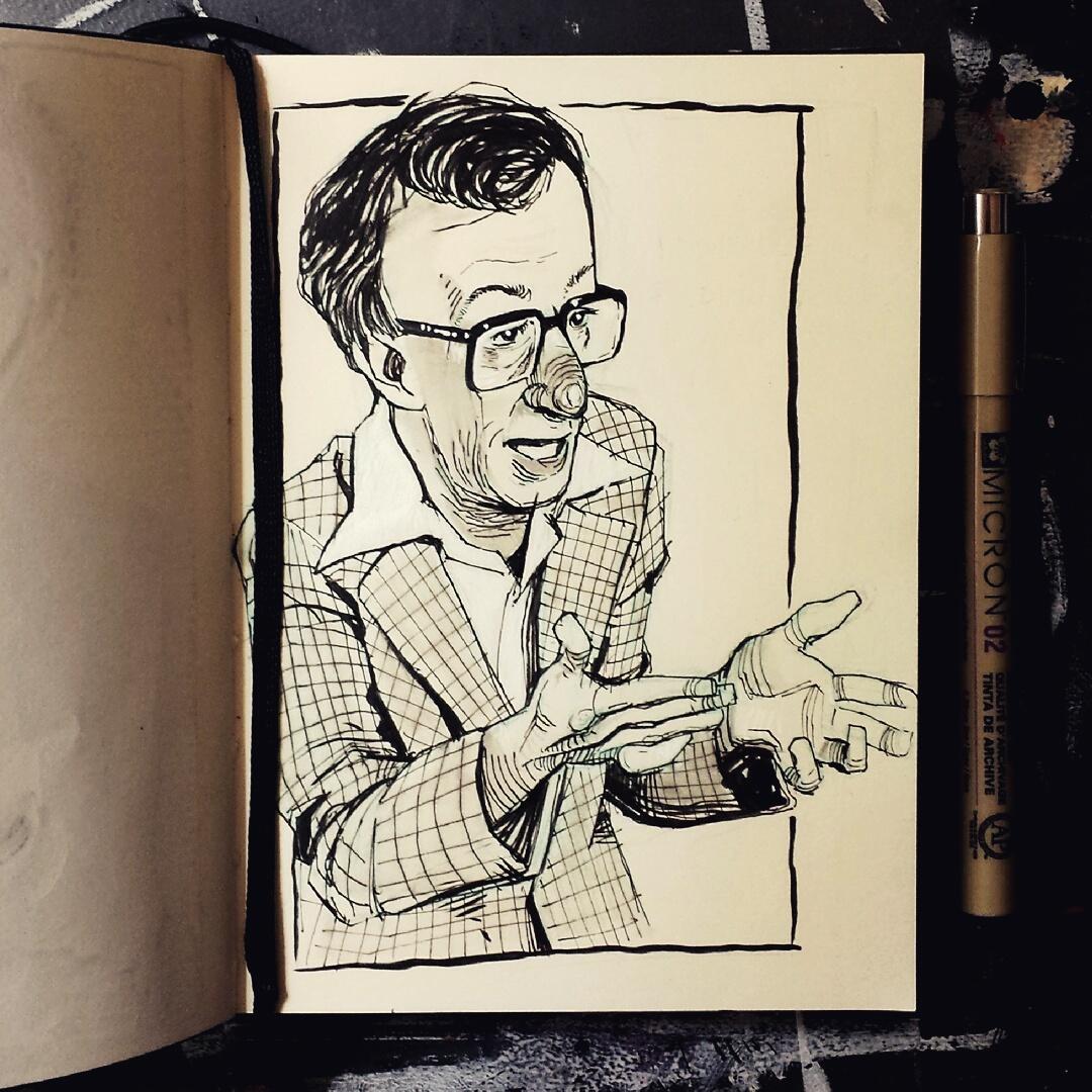 Woody Allen sketchbook drawing