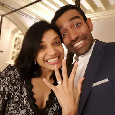 Robin Uthappa and Sheetal engagement