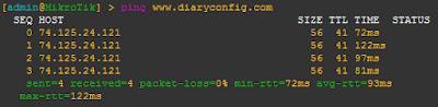 Tes Ping ke Domain Web