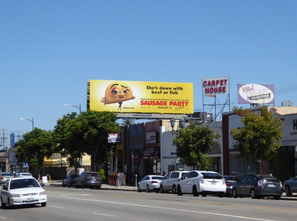 Sausage Party film billboard