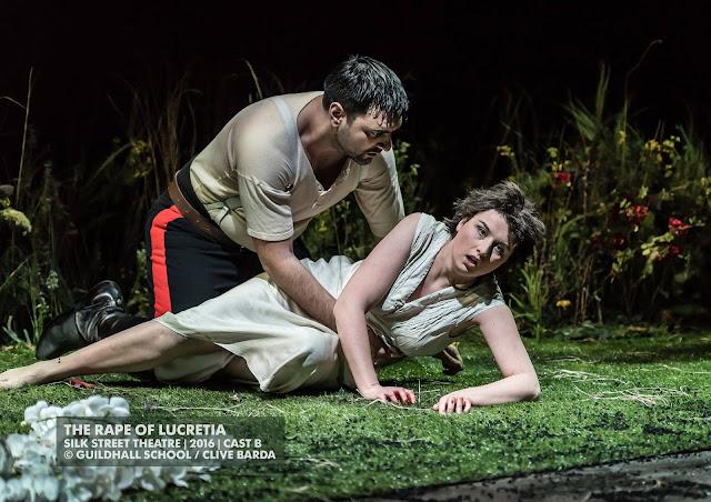 Miljan Siljanov, Karzyna Baljeko - Britten's The Rape of Lucretia at Guildhall School - photo Clive Barda
