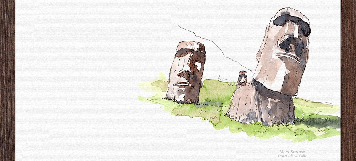 09-Moai-Statues-Easter-Island-Chile-Mucahit-Gayiran-Architectural-Landmarks-Mixed-Media-Art-Part-2-www-designstack-co