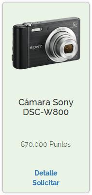 Premio de Camara Sony DSC-W800