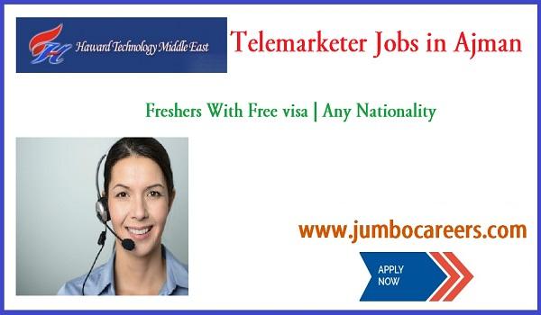 Direct recruitment jobs in Ajman, Telemarketer jobs for Indians,