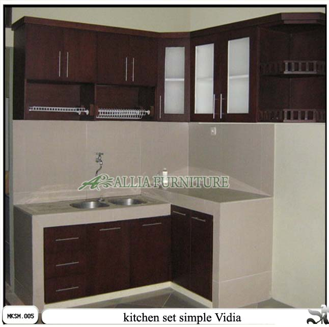 Kitchen Set Minimalis Simple Vidia Allia Furniture