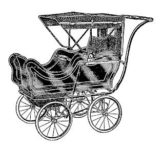 baby image carriage vintage stroller download