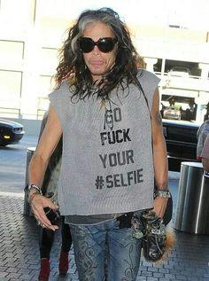 GO FUCK YOUR #SELFIE shirt as worn by Steven Tyler of Aerosmith.  PYGear.com